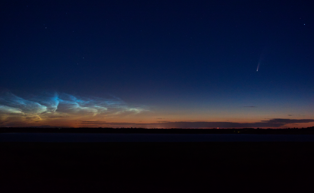 Comet NEOWISE & Noctilucent Clouds