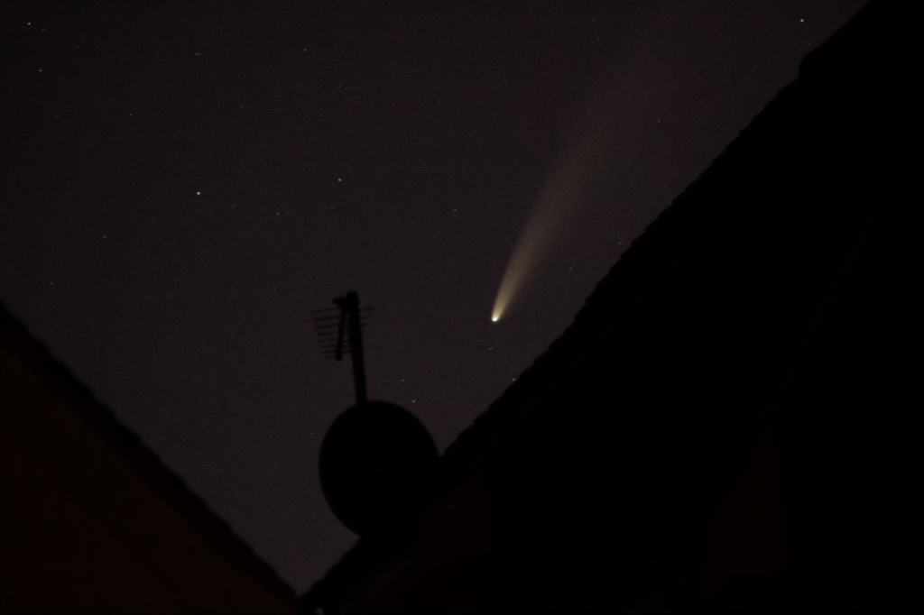 Comet NEOWISE over Rooftops