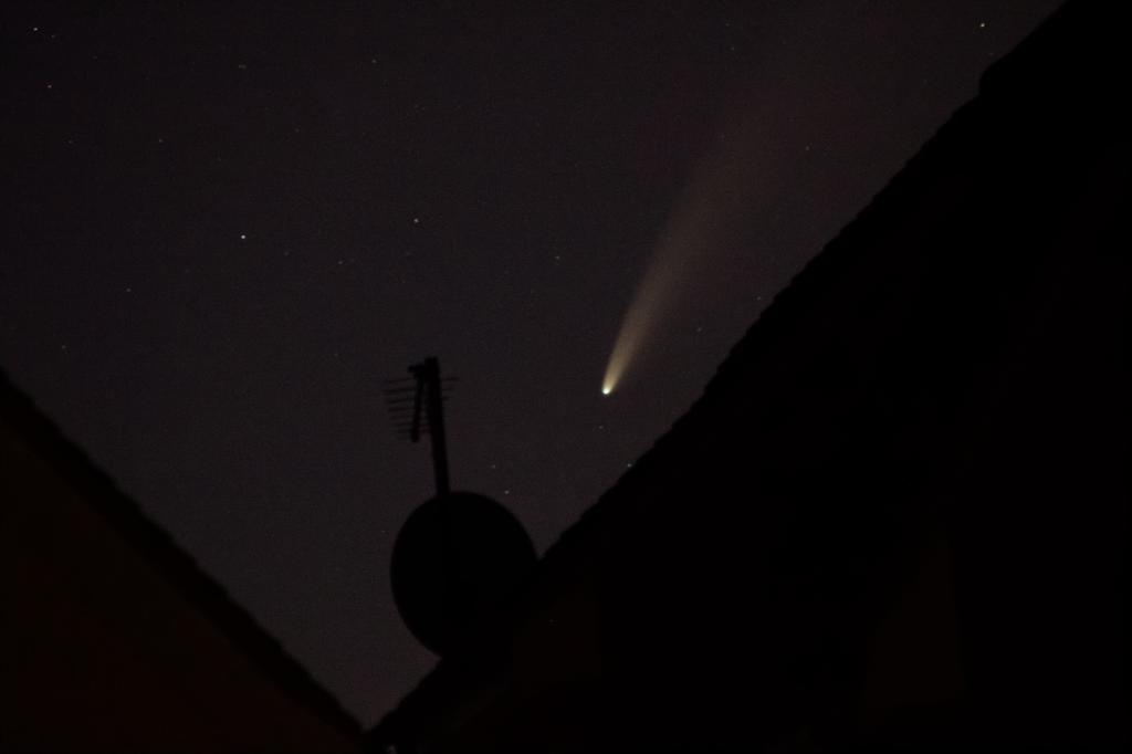 Comet NEOWISE over Rooftops