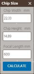Chip Size Calculator Form